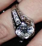 Christina Aguileras Antique Solitaire Engagement Ring