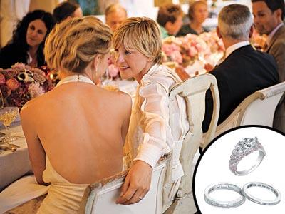 Ellen DeGeneres gives Portia De Rossi an Engagement RingEllen Degeneres And Portia De Rossi Wedding Ring