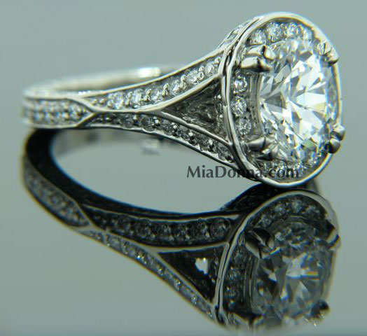 "Celebrity Engagement Ring ""Katie Holmes"" Replica"