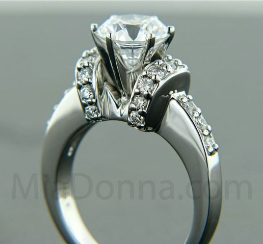 1 5ct Diamond Hybrid Solitaire Engagement Ring The Adriana MiaDonna Diam