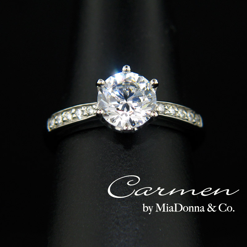 Solitaire Engagement Ring  1.5 Carat Round Cut Solitaire Engagement Rings