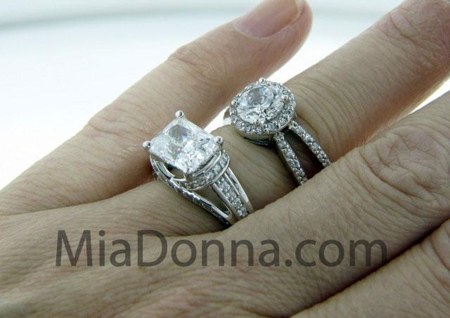 man made diamond wedding ring