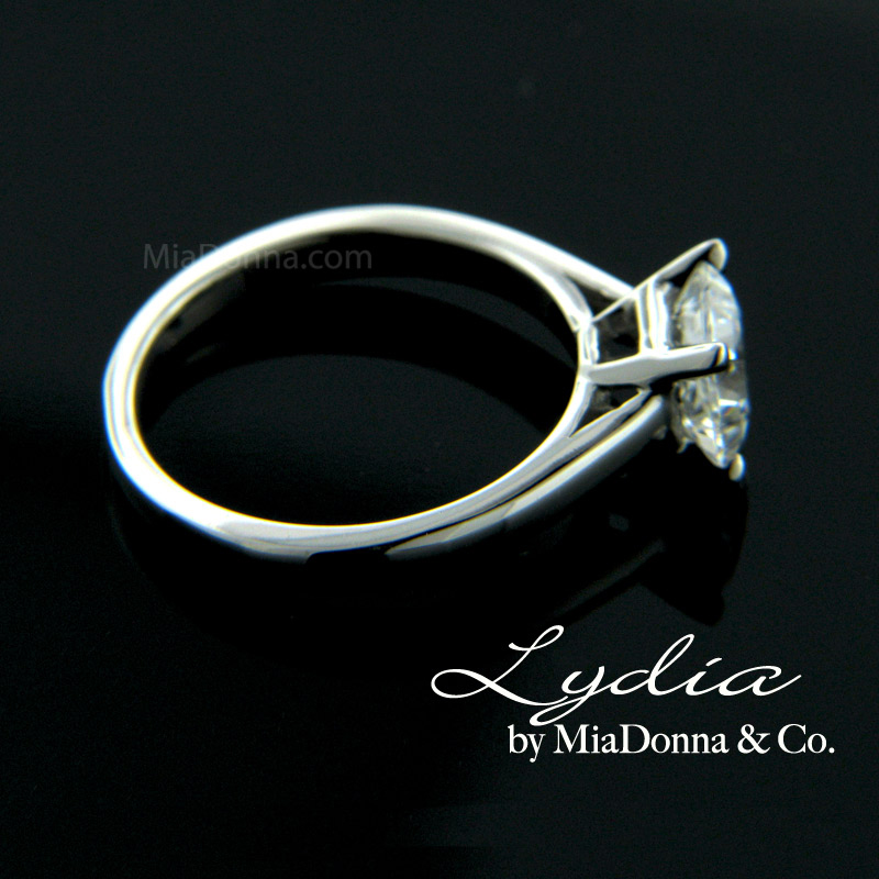 "Eco friendly Princess cut Solitaire Engagement Ring ""Lydia"" by MiaD"