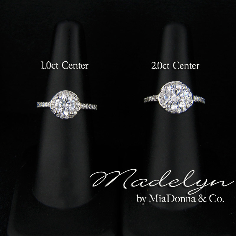 Diamond Solitaire Engagement  1.5 Carat Diamond Ring On Finger