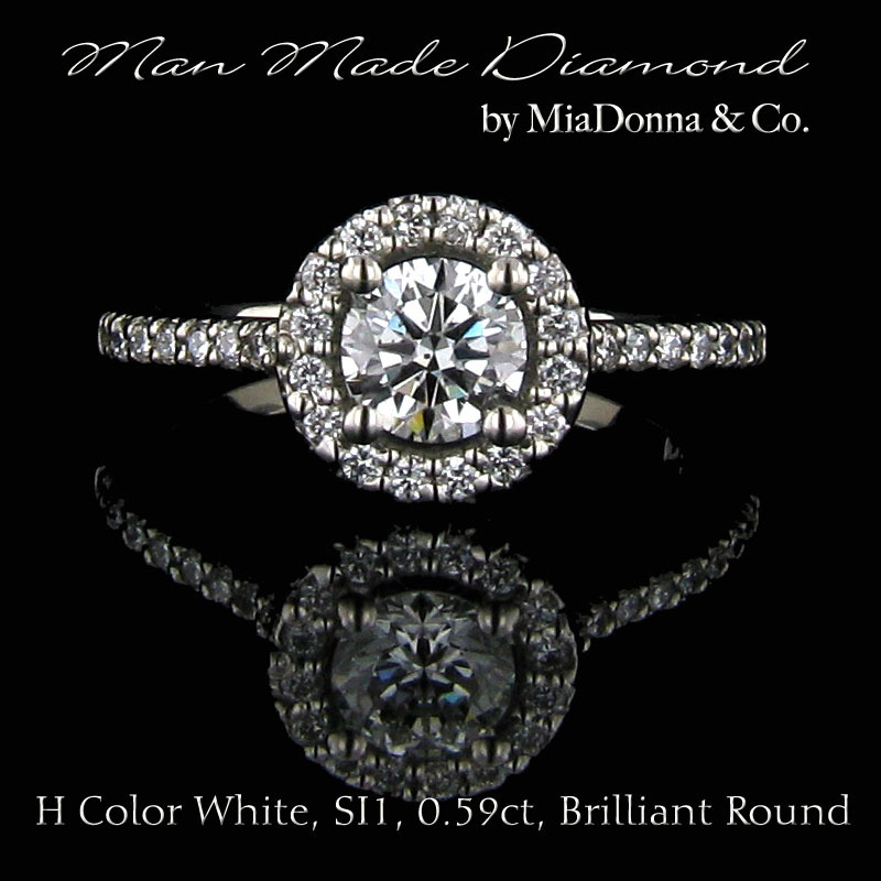 MiaDonna® Man Made Diamonds. Real diamonds made by man