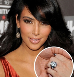 Beyoncemillion Dollar Ring on The Reflection Three Stone Ring Inspired By Kim Kardashian     Only It