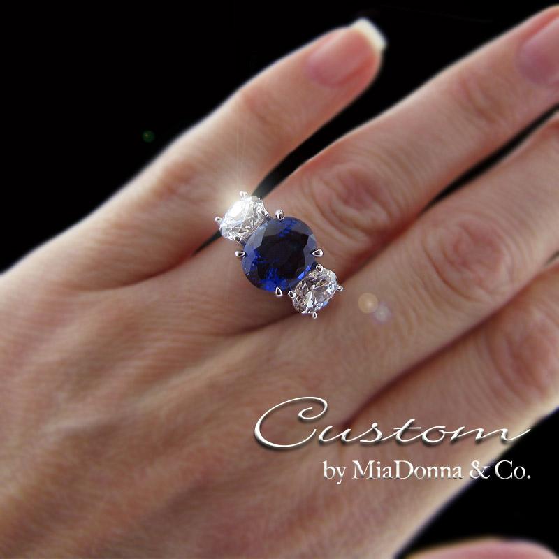 blue sapphire engagement rings by miadonna miadonna. Black Bedroom Furniture Sets. Home Design Ideas