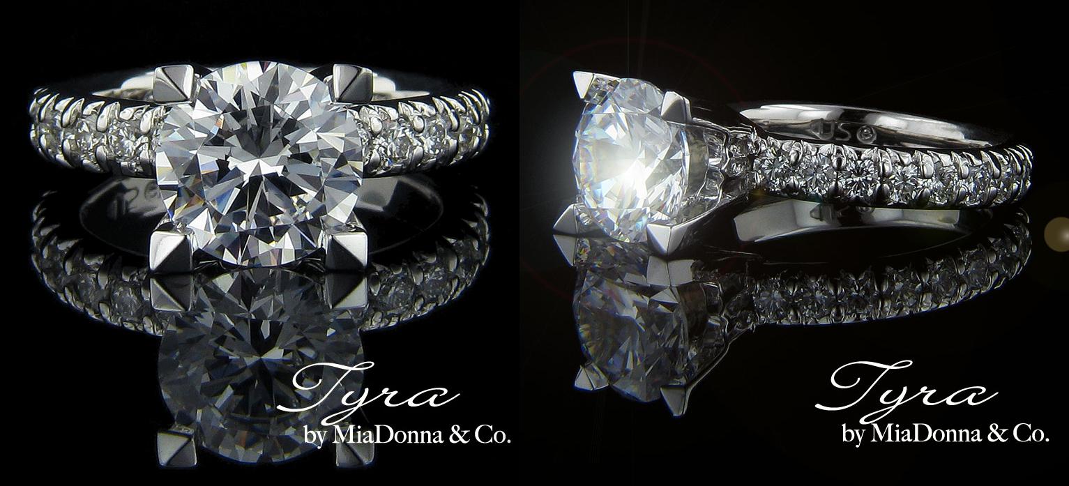 engagement rings miadonna made diamonds