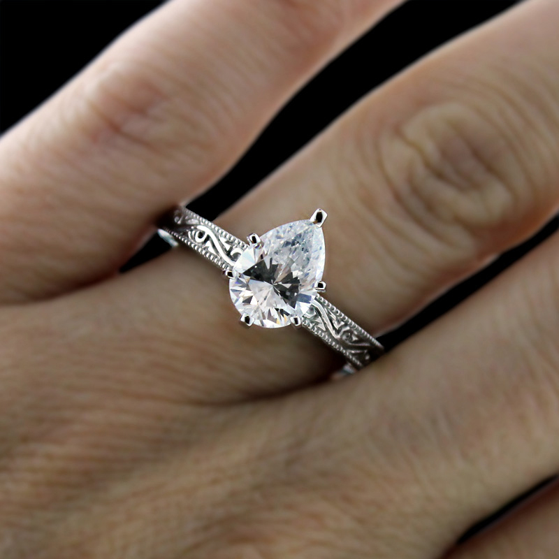 Filigree Solitiare Engagement Ring The Victorian By