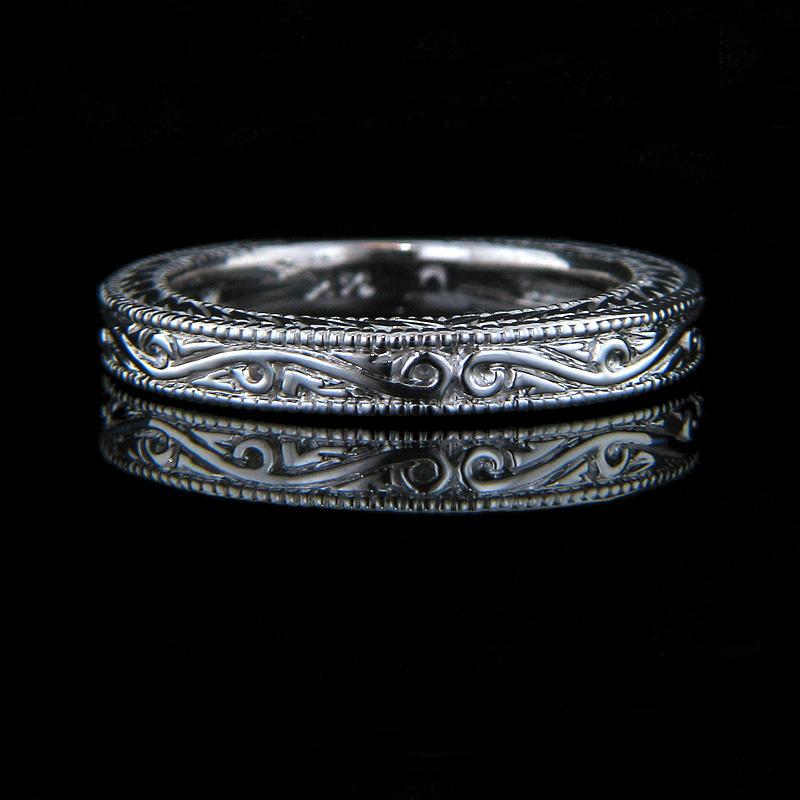 Filigree Solitiare Engagement Ring The Victorian by MiaDonna MiaDonna Dia