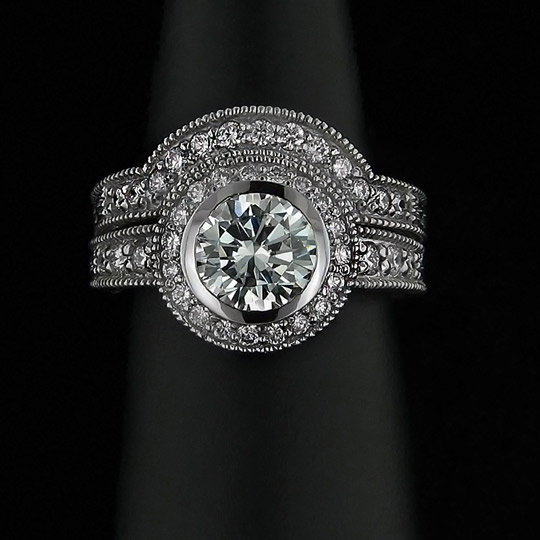 Man-Made-Diamond-Ring-Antique-Diamond-Ring