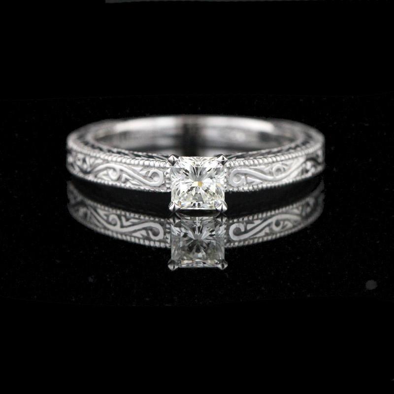 Princess-cut-Diamond-Ring-Man-Made-Diamond