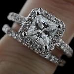 WeddingSet_Princess_Halo_EngagementRing_paveband