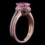 Kenya: Oval cut Lab Created Pink Sapphire