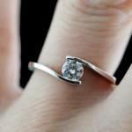 Daci Engagement Ring: 0.39ct, I color, VVS2 Man Made Diamond