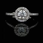 Custom Engagement Ring: 0.59ct, H color, SI1 Man Made Diamond