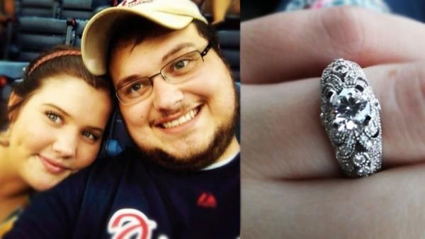 Allison & Josh / her stunning Gwen Engagement Ring!