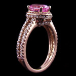 Kenya Accented Engagement Ring_Oval cut Pink Sapphire