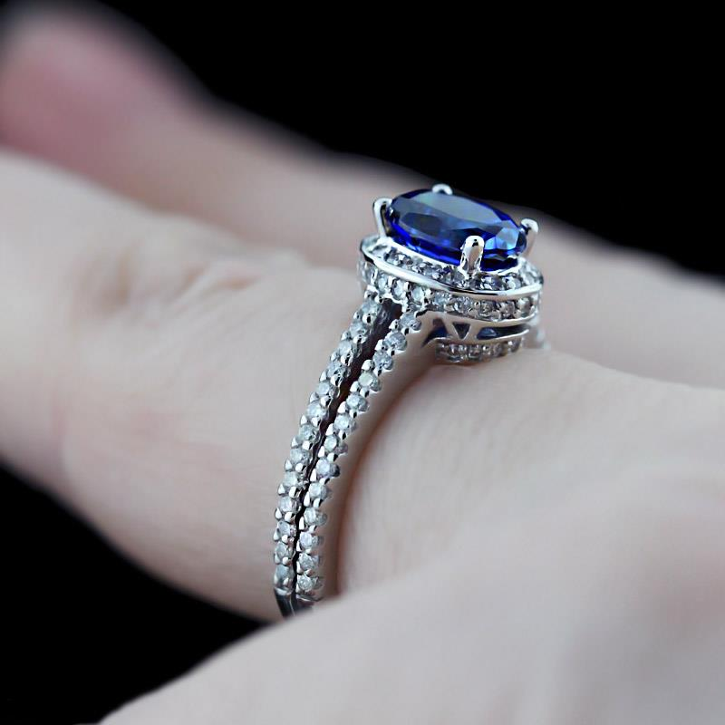 Pop of color the gemstone engagement ring trend for Man made sapphire jewelry