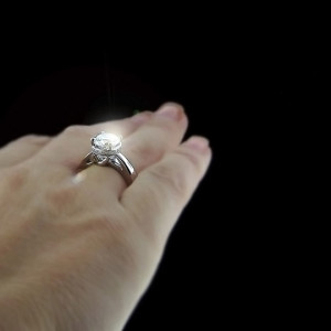 Betty Accented Engagement Ring