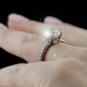 Hayley Accented Engagement Ring