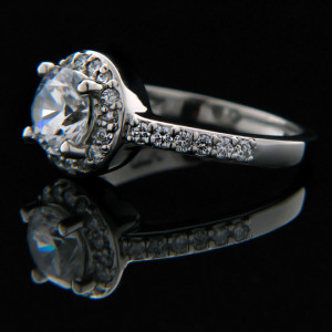 Madelyn Accented Halo Engagement Ring