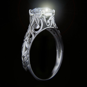 Tory Antique Solitaire Engagement Ring