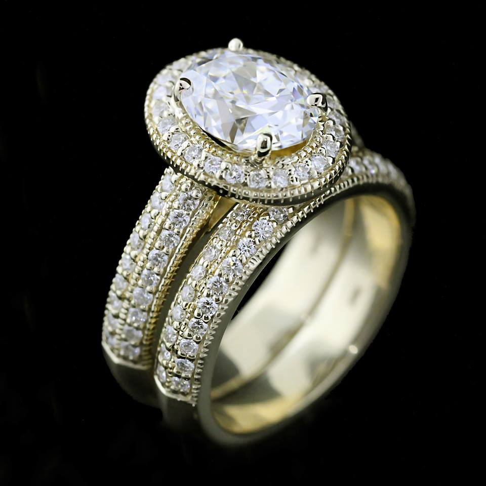 miadonna custom antique wedding ring set miadonna diamond blog