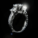 MiaDonna_Julie Three Stone Antique Engagement RIng