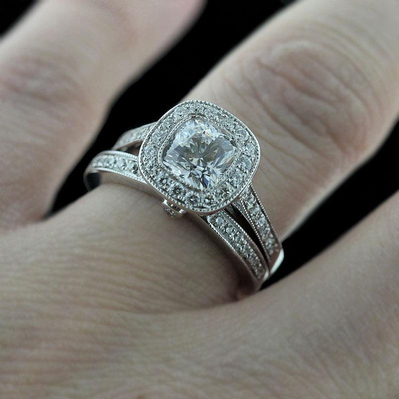 Vintage engagement ring set granny picture porn for Vintage wedding rings sets