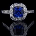 MiaDonna_PLuxury Antique Engagement RIng_Blue Sapphire