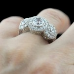 MiaDonna_Rosie Three Stone Antique Engagement RIng