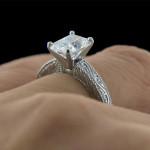 MiaDonna_Victorian Antique Solitaire Engagement RIng
