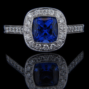 Antique engagement rings archives miadonna diamond blog for Man made sapphire jewelry