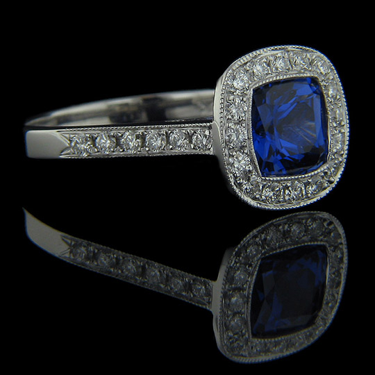 Vintage engagement ring archives miadonna diamond blog for Man made sapphire jewelry
