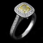 MiaDonna Luxury Man Made Diamond Antique Engagement Ring