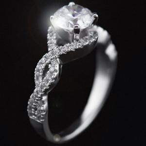Infinity Pavé Diamond Engagement Ring