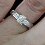 White Man Made Diamond in Melanie Engagement Ring