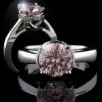 Pink Man Made Diamond in Betty Engagement Ring