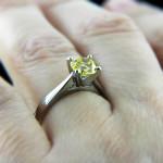 Round Yellow Man Made Diamond in Jamie Solitaire Engagement Ring