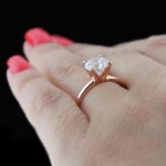 Tiffany Engagement Ring in Rose Gold
