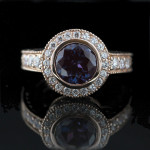 Renee Antique Engagement Ring in Rose Gold