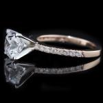 Novu Engagement Ring in Rose Gold