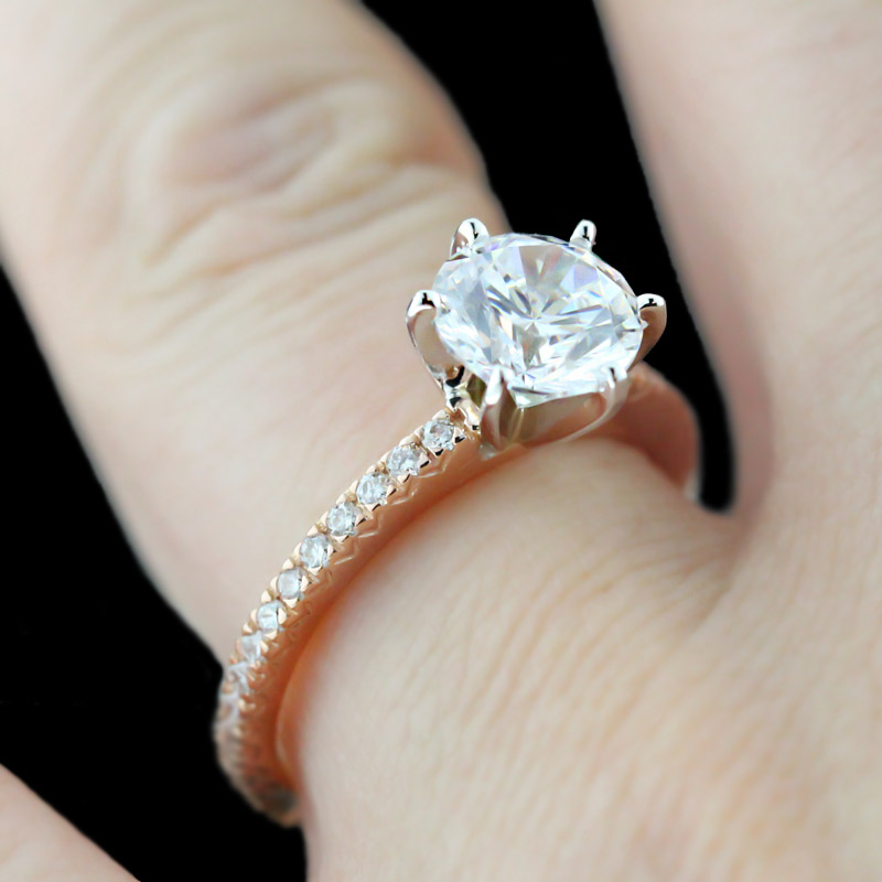 Rose Gold Engagement Rings Rose Gold Engagement Rings Solitaire