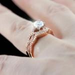 Infinity Wedding Set in Rose Gold