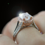 Two Tone Kat Engagement Ring with Rose and White Gold