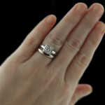 Bizet Solitaire Wedding Ring Set by MiaDonna