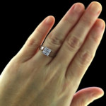 Lucy Solitaire Engagement Ring by MiaDonna