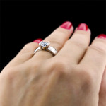 Lunar Solitaire Engagement Ring by MiaDonna