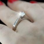 Helen Engagement Ring with Round White Man Made Diamond